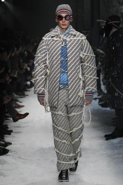 Moncler Gamme Bleu2017米兰秋冬男装周