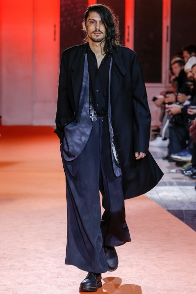 Yohji Yamamoto2018巴黎秋冬男装周