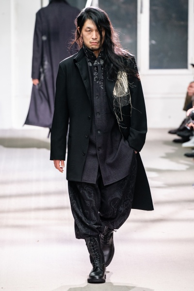 Yohji Yamamoto2019巴黎秋冬男装周