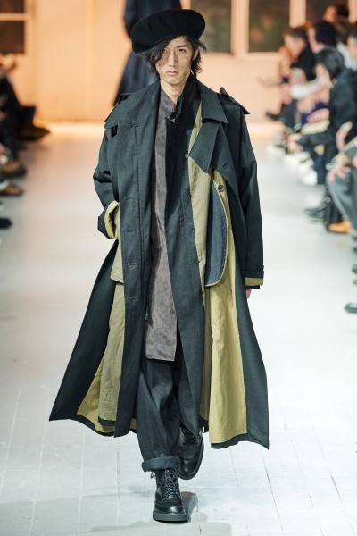 Yohji Yamamoto2020巴黎秋冬男装周